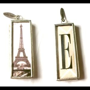 Jewel Kade Eiffel Tower Initial E Charm